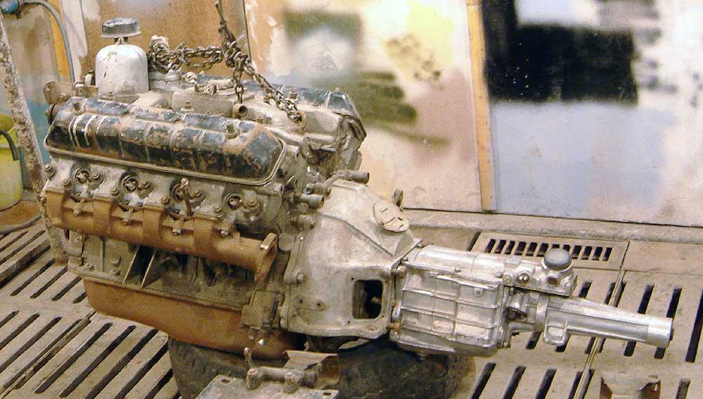 Волга с двигателем от зила